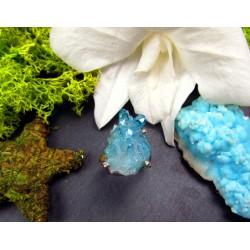 Bague en argent avec quartz aqua aura