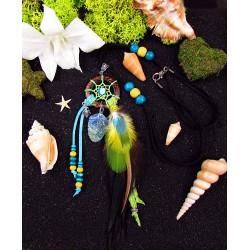 """Collier ethnique attrape rêves avec abalone et opale d'Australie """"Follow your heart"""""""