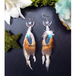 Boucles d'oreilles plumes...