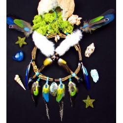 Bouclier de protection chamanique 4 animaux totem