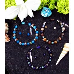 """Bracelets ethniques macramé avec abalone """"Pearly ocean"""""""