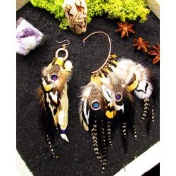 ear cuff plumes amérindien