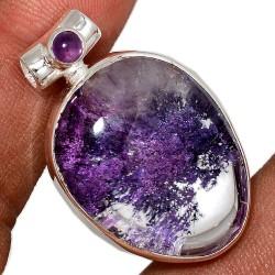 Pendentif quartz lodolite...