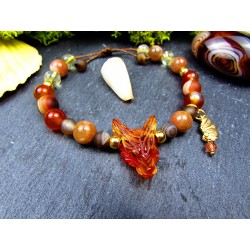 Bracelet ethnique avec loup...