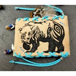 Pochette médecine amérindienne totem de l'ours