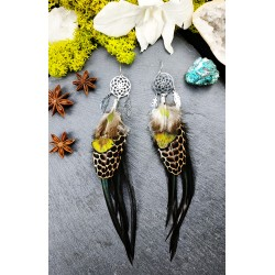 Earrings catches Native American feather dreams