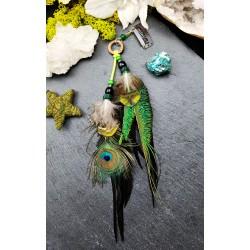 Bijou de cheveux plumes naturelles de paon