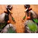 "Boucles d'oreilles ""Golden peacock"""