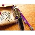 Pendentif pochette médecine totem loup