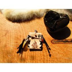 bag pendant, wolf totem medicine