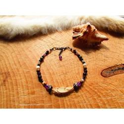 """Bracelet de cheville """"La plume enchantée"""""""