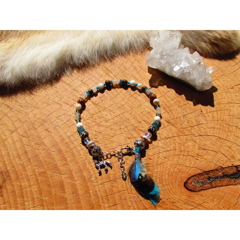 """Bracelet de cheville """"Peaceful sky"""""""