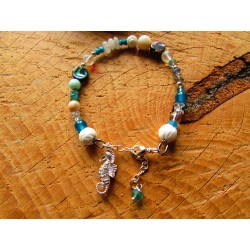 "Bracelet ethnique ""Aquatic love"""