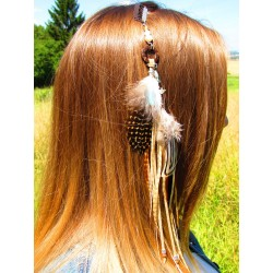 "Bijou cheveux ""Golden peacock"""