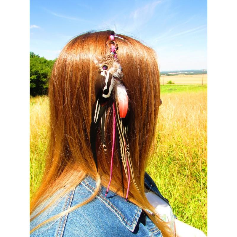 """Bijou de cheveux """"La rosée du colibri"""""""