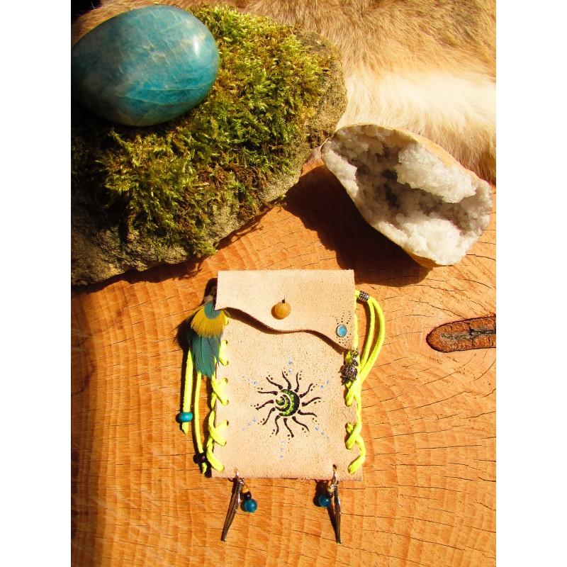 Pochette médecine totem perroquet