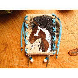 Pochette médecine totem du cheval
