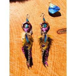 "Boucles d'oreilles ""The happy island"""