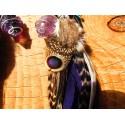 """Boucles d'oreilles """"Purple divine"""""""
