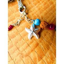 """Bracelet de cheville """"The pink beach"""""""
