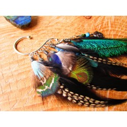 "Ear cuff ""Forest of peacock"""