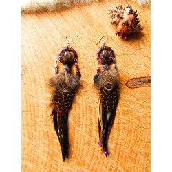"Boucles d'oreilles ""Amazon jungle"""