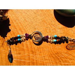 "Bracelet loup ""Between moon and earth"""