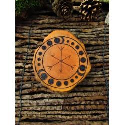 Talisman Runique Personnel en bois