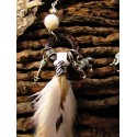 """Boucles d'oreilles plumes """"The white wise she-wolf"""""""