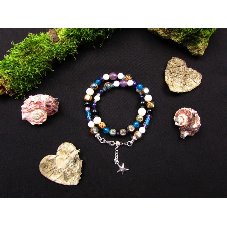 """Bracelet ethnique étoile de mer """"Abalone beach"""""""