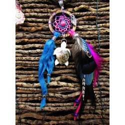 "Collier attrape rêves totem tortue ""Island of love"""