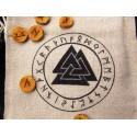 Set de jeu de Runes ancien futhark dédié à Odin