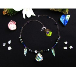 "Collier abalone ""The mystic princess"""