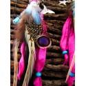 """Boucles d'oreilles plumes et turquoise """"Elixir of life"""""""
