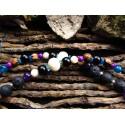 "Mala 108 perles labradorite violette ""Notrhern lights"""