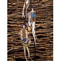 """Bijou de cheveux avec plumes naturelles """"Purple dragonfly"""""""