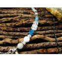 """Bracelet de cheville ethnique plumes """"Menthe glaciale"""""""