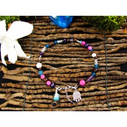 "Bracelet ethnique opale et totem renard ""Golden fox"""