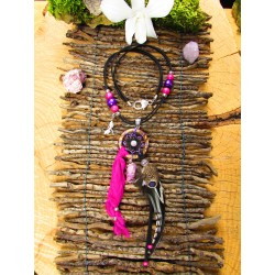"Collier aura quartz ""Kiss from a rose"""