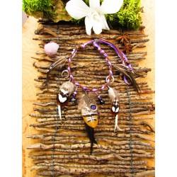 "Bracelet de bras plumes ""Amazon spirit"""