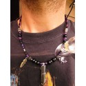 "Collier homme ethnique avec stibine ""Self reliance"""