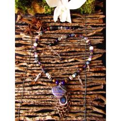 """Collier  labradorite violette """"Jungle lover"""""""