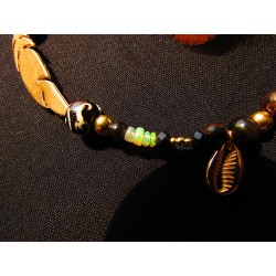 """Bracelet de cheville plume """"La plume d'or"""""""