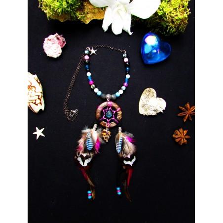 """Collier opale boulder """"Paraïba opal"""""""