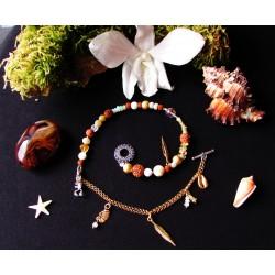 """Bracelet ethnique totem scorpion """"Le sable doré"""""""