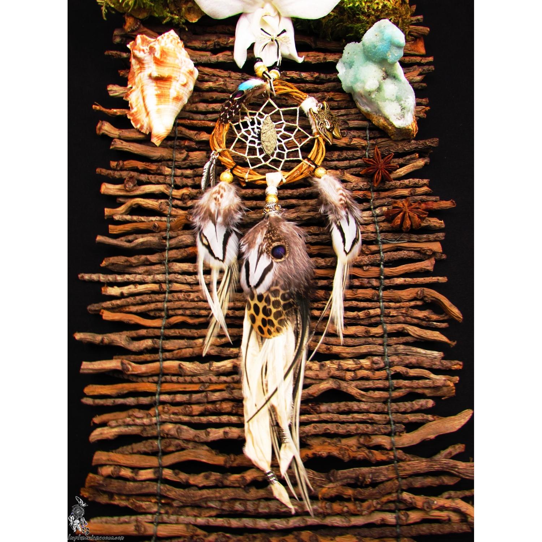 petit attrape r ves artisanal pyrite totem lynx dunes blanches. Black Bedroom Furniture Sets. Home Design Ideas