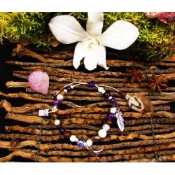"Bracelet ethnique totem chouette ""The white owl"""