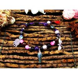 "Bracelet ethnique totem libellule ""Life is magic"""