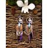 """Boucles d'oreilles ethniques plumes hibou """"Magic owl"""""""