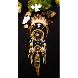 "Attrape rêves artisanal ammonite amérindien ""Native dreams"""